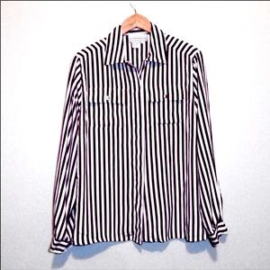Vintage Westbound Striped Long Sleeve Blouse
